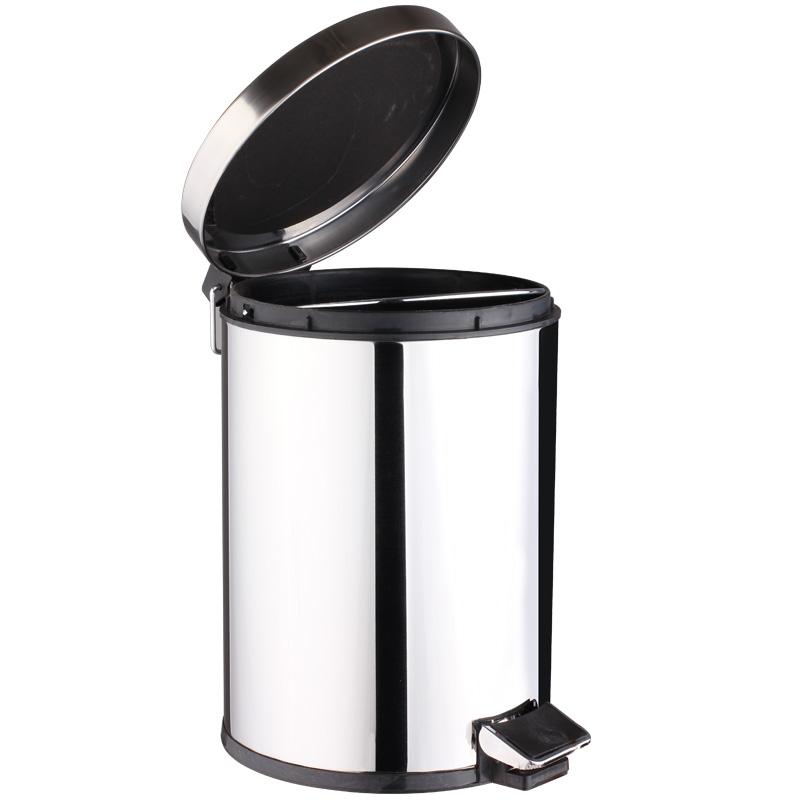 世家-家政中国  脚踏式  不锈钢  垃圾桶  (8L)